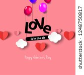 hearts and balloons for... | Shutterstock .eps vector #1248750817