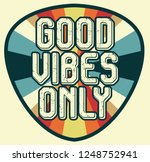 good vibes vintage retro   Shutterstock .eps vector #1248752941
