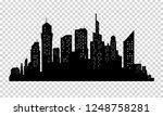 city skyline in grey colors.... | Shutterstock . vector #1248758281