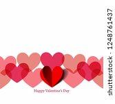 paper heart for valentine's day.... | Shutterstock .eps vector #1248761437