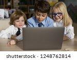 little children businessmen...   Shutterstock . vector #1248762814