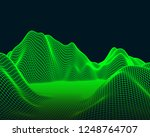 abstract vector mesh landscape. ... | Shutterstock .eps vector #1248764707