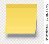 yellow sticky note isolated on... | Shutterstock .eps vector #1248764797