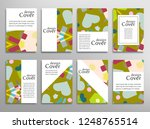 set of a4 cover  abstract... | Shutterstock .eps vector #1248765514