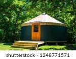 yurt exterior daytime  | Shutterstock . vector #1248771571