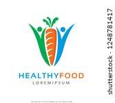 healthy food logo template... | Shutterstock .eps vector #1248781417