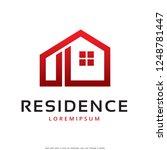 residence logo template design...   Shutterstock .eps vector #1248781447