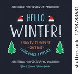 winter font. vintage hand drawn ... | Shutterstock .eps vector #1248783631