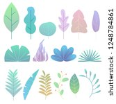 abstract trendy style plants ... | Shutterstock .eps vector #1248784861