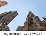 view from the bottom to the top ... | Shutterstock . vector #1248794737