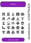 vector icons pack of 25 filled... | Shutterstock .eps vector #1248796324