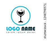 glass of wine logo concept....