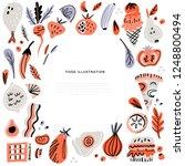 food hand drawn vector... | Shutterstock .eps vector #1248800494