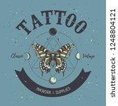 tattoo studio poster. classic... | Shutterstock .eps vector #1248804121