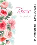 greeting card with roses....   Shutterstock .eps vector #1248804367