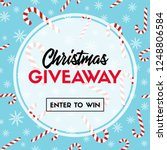 christmas giveaway. enter to... | Shutterstock . vector #1248806584
