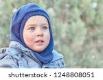 Cute Caucasian Liittle Boy Wit...