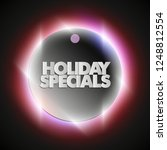 holiday specials sale circle... | Shutterstock .eps vector #1248812554