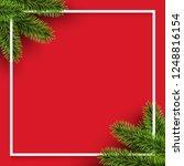 vector christmas square frame... | Shutterstock .eps vector #1248816154