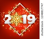 2019 happy new year greeting... | Shutterstock .eps vector #1248817747