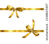 vector golden bow with ribbon... | Shutterstock .eps vector #1248819307