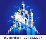 technology concept of digital... | Shutterstock .eps vector #1248822277