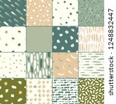 set of 16 seamless texture.... | Shutterstock .eps vector #1248832447