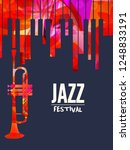 jazz music festival poster with ... | Shutterstock .eps vector #1248833191