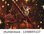bad santa concept. portrait of... | Shutterstock . vector #1248855127