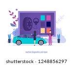 machine diagnostics  repair.... | Shutterstock .eps vector #1248856297