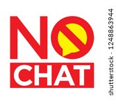no chat and keep silence symbol | Shutterstock .eps vector #1248863944