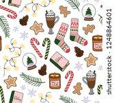 winter essentials hand drawn...   Shutterstock .eps vector #1248864601