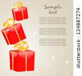 gift boxes with gold ribbons | Shutterstock .eps vector #124887274