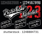 retro lettering font and digits.... | Shutterstock .eps vector #1248884731