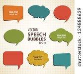 vintage vector speech bubbles... | Shutterstock .eps vector #124888639