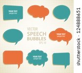 vector speech bubbles... | Shutterstock .eps vector #124888651