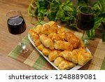 homemade pastry with sesame and ... | Shutterstock . vector #1248889081