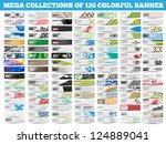 mega collection of 120 colorful ... | Shutterstock .eps vector #124889041