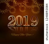 happy new year 2019 card... | Shutterstock .eps vector #1248892084