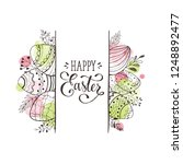 happy easter greeting card with ... | Shutterstock .eps vector #1248892477