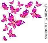 beautiful pink butterflies ...   Shutterstock . vector #1248899134