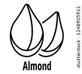 almond icon. outline almond... | Shutterstock .eps vector #1248905911