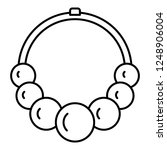 romance necklace icon. outline... | Shutterstock .eps vector #1248906004