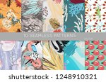 collection of seamless patterns.... | Shutterstock .eps vector #1248910321