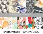 collection of seamless patterns.... | Shutterstock .eps vector #1248910327