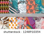 collection of seamless patterns.... | Shutterstock .eps vector #1248910354
