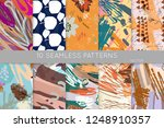 collection of seamless patterns.... | Shutterstock .eps vector #1248910357