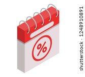 calendar final sale icon.... | Shutterstock .eps vector #1248910891