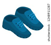 blue sneakers icon. isometric... | Shutterstock .eps vector #1248911287