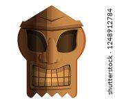 polynesian idol icon. cartoon... | Shutterstock .eps vector #1248912784